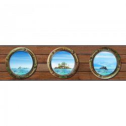 AG Art Samolepiaca bordúra Ostrov, 500 x 14 cm