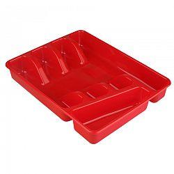 Altom Plastový príborník 34 x 26 x 4,5 cm, červená