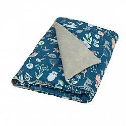 Babymatex Detská deka Velvet modrá, 75 x 100 cm