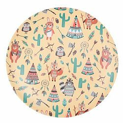 Bambusový tanier Indian 25 cm, žltá