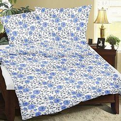Bellatex Flanelové obliečky Ruže modrá