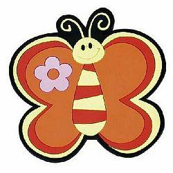 Bellatex Kuchynská podložka Motýľ oranžová 10 cm
