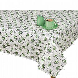 BELLATEX Obrus IVO Ružička zelená s pečiatkou