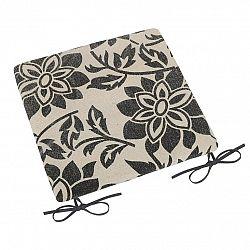 Bellatex Sedák Paula hladký Kvet sivá, 38 x 38 cm