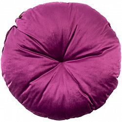 Domarex Vankúš okrúhly Velvet fialová, 50 cm