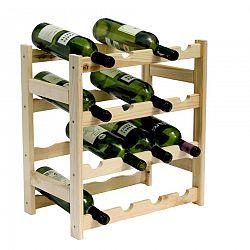 Drevený regál na 16 fliaš vína