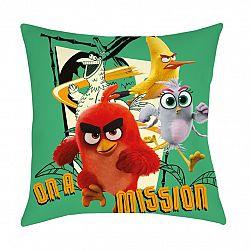 Halantex Vankúšik Angry Birds Movie 2 On a mission, 40 x 40 cm