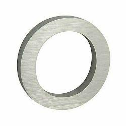 Hliníkové číslo 0 3D brúsený povrch RN.100LV.0.AL.3D