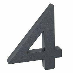 Hliníkové číslo 4 3D štruktúrovaný povrch RN.100LV.4.AL.AM.3D