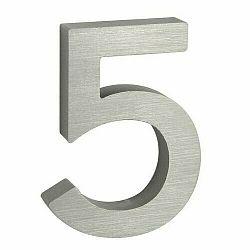 Hliníkové číslo 5 3D brúsený povrch RN.100LV.5.AL.3D