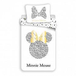 Jerry Fabrics Bavlnené obliečky Minnie Gold, 140 x 200 cm, 70 x 90 cm