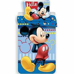 Jerry Fabrics Detské bavlnené obliečky Mickey 004, 140 x 200 cm, 70 x 90 cm
