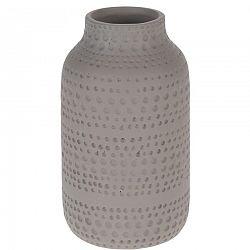 Keramická váza Asuan hnedá, 19 cm