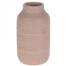 Keramická váza Asuan ružová, 19 cm