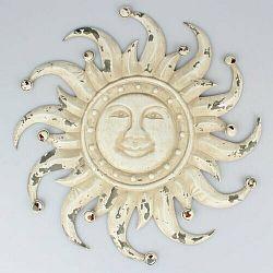 Kovová dekorácia na stenu Slnko, 50 x 50 x 3 cm