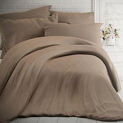 Kvalitex Bavlnené obliečky melír béžová, 140 x 200 cm, 70 x 90 cm