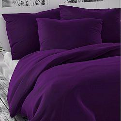 Kvalitex Saténové obliečky Luxury Collection tmavo fialová, 200 x 200 cm, 2 ks 70 x 90 cm
