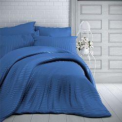 Kvalitex Saténové obliečky Stripe modrá, 220 x 200 cm, 2 ks 70 x 90 cm