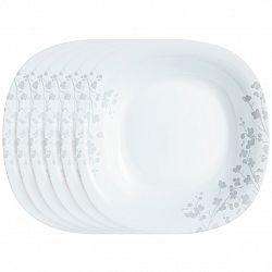 Luminarc Sada hlbokých tanierov Ombrelle 21 cm, 6 ks, biela