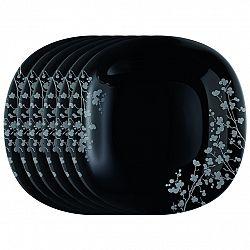 Luminarc Sada plytkých tanierov Ombrelle 27 cm, 6 ks, čierna