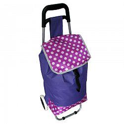 Nákupná taška na kolieskach Bodka, fialová