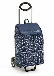 Nákupná taška na kolieskach EASY New modrá,
