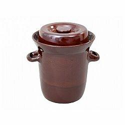 Nohelgarden Zelák MORAVA s víkem keramický hnědý 23l