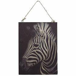 Obraz na dreve Zebra, 28,5 x 20,5 cm
