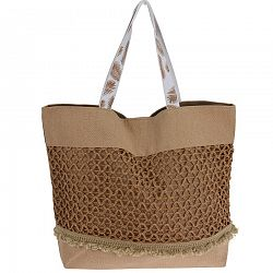Plážová taška Croche, hnedá