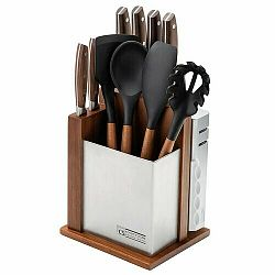 Sada nožů a kuchyňského náčiní ve stojanu 12 ks SOLTAU CS-080228