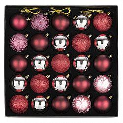 Sada vianočných ozdôb Ornate červená, box 36 ks