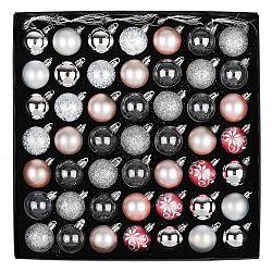 Sada vianočných ozdôb Ornate ružová, box 49 ks