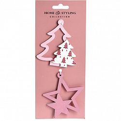 Sada vianočných ozdôb Tree and star, 2 ks