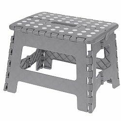 Skladacia stolička sivá, 29 x 22 cm