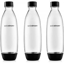 SodaStream Fľaša FUSE 3Pack 1 l, čierna