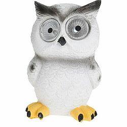 Solárne svetlo Standing owl biela, 9 x 9 x 12,5 cm