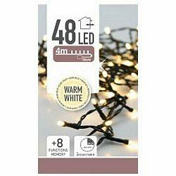 Svetelná vianočná reťaz Twinkle teplá biela, 48 LED