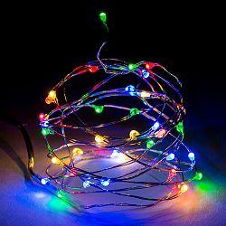 Svetelný drôt farebný, 40 LED