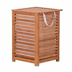 Tempo Kondela Kôš na bielizeň, lakovaný bambus/béžová, BASKET