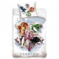 Tiptrade Detské bavlnené obliečky Harry Potter Hogwarts Erb, 140 x 200 cm, 70 x 90 cm