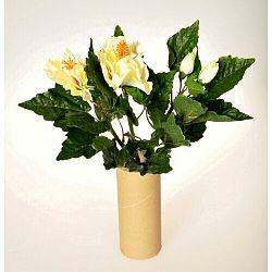 Umelá kvetina Ibištek zväzok biela, 35 cm
