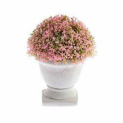 Umelá kvetina v betónovom kvetináči ružová, 15 x 12 cm