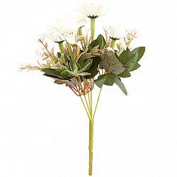 Umelá kytica Kapské margarétky 20 x 30 cm, smotanová