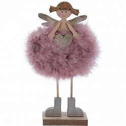 Vianočná dekorácia Anjelik Leticia, ružová