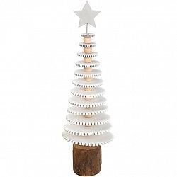 Vianočná drevená dekorácia Roundy tree, 25 cm