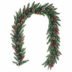 Vianočná girlanda Levante zelená, 200 cm