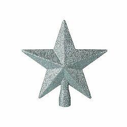 Vianočná špička na stromček Glitter star, zelená