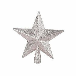 Vianočná špička na stromček Glitter star, zlatá