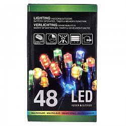 Vianočná svetelná reťaz, farebná, 48 LED, 402,5 cm