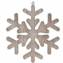 Vianočná závesná dekorácia Pienza hnedá, 19 cm